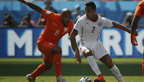 替补建功 荷兰2:0力克智利夺小组头名