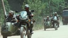 欧豪摩托车上玩自嗨