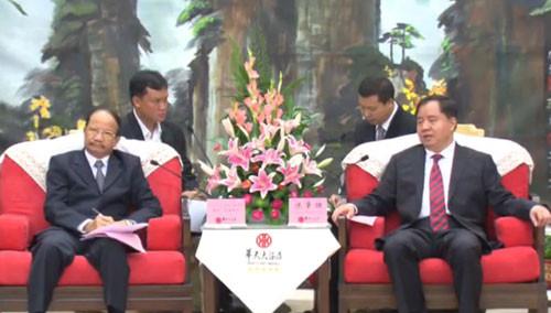 8月底长沙可直飞老挝万象 陈肇雄会见老挝访湘团