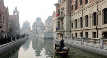 """大连现山寨版""""威尼斯水城"""" 斥资50亿元建造"""