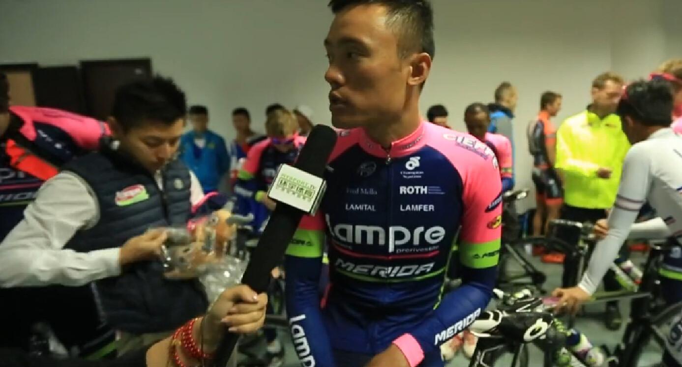 2015环青海湖国际公路自行车赛:蓝波美利达车队徐刚采访