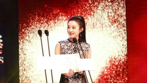 赵丽颖澳门国际电视节封后 获最佳女主角