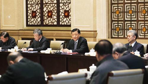 刘云山与文艺界委员共商国是